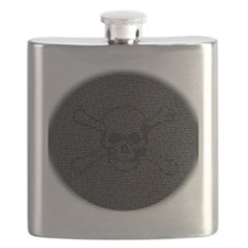Skull and Bones Disc golf Overlay Flask