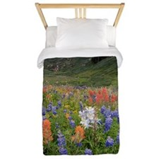 Alpine flowers in Rustler's Gulch Twin Duvet