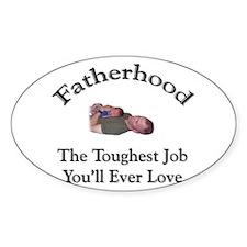 Fatherhood 1 Oval Decal