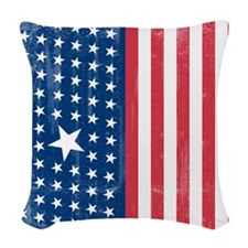 The Stars and Stripes Woven Throw Pillow