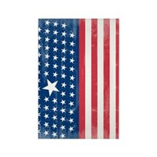 The Stars and Stripes Rectangle Magnet