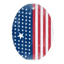 The Stars and Stripes Oval Ornament