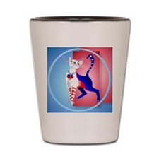 Circle An All American Cat Shot Glass