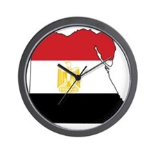 Flag Map of Egypt Wall Clock
