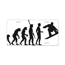 evolution snowboard Aluminum License Plate