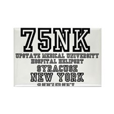 UNIVERSITY AIRPORT CODES - 75NK - Rectangle Magnet