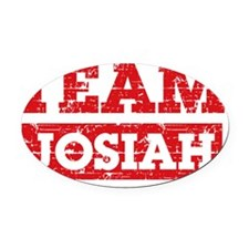 Team Josiah Oval Car Magnet