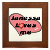 janessa loves me  Framed Tile