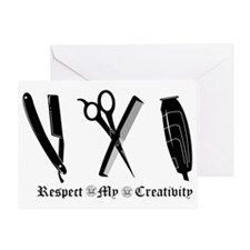 Barber Tools Greeting Card