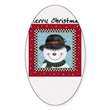 Smiling Snowman Decal