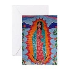 Our Lady of Guadalupe Balloon Greeting Card