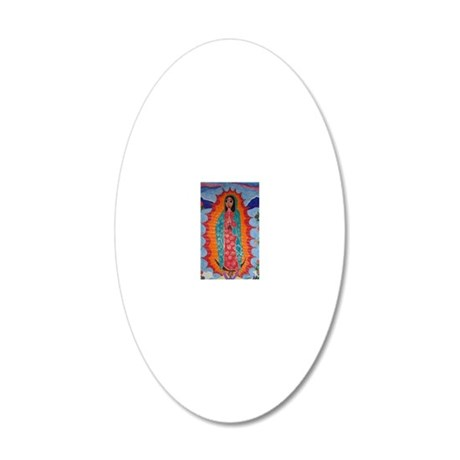 Our Lady of Guadalupe Balloo 20x12 Oval Wall Decal