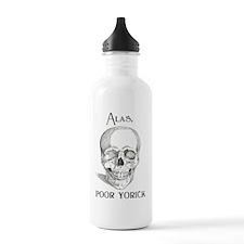 Alas, poor Yorick Sports Water Bottle