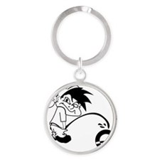 Piss on Obama Round Keychain