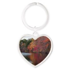 Autumn Colors Heart Keychain