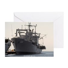 uss durham large framed print Greeting Card