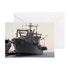 uss durham framed panel print Greeting Card