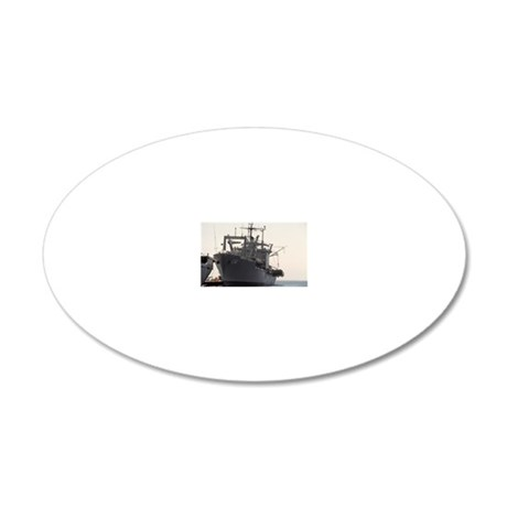 uss durham rectangle magnet 20x12 Oval Wall Decal