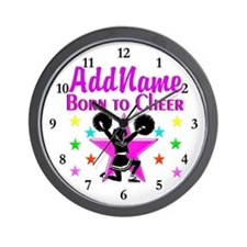 BORN TO CHEER Wall Clock