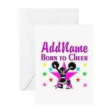 BORN TO CHEER Greeting Card