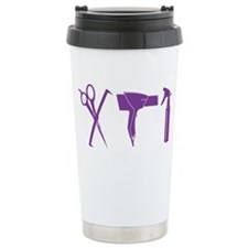 Hair Stylist Purple Tools Black Travel Mug