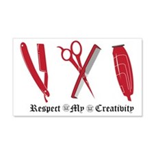 Barber Red Tools of the Trade Wall Decal