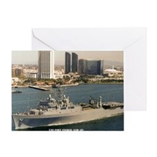 uss fort fisher framed panel print Greeting Card