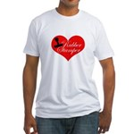 Rubber Stamper - Heart Fitted T-Shirt