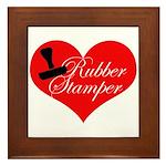 Rubber Stamper - Heart Framed Tile