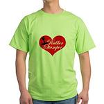 Rubber Stamper - Heart Green T-Shirt