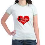 Rubber Stamper - Heart Jr. Ringer T-Shirt