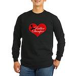 Rubber Stamper - Heart Long Sleeve Dark T-Shirt