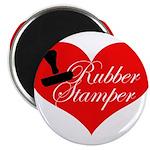 Rubber Stamper - Heart Magnet