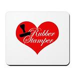 Rubber Stamper - Heart Mousepad
