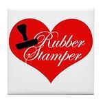 Rubber Stamper - Heart Tile Coaster