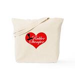 Rubber Stamper - Heart Tote Bag