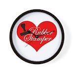 Rubber Stamper - Heart Wall Clock