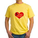 Rubber Stamper - Heart Yellow T-Shirt