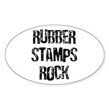 Rubber Stamps Rock Oval Decal