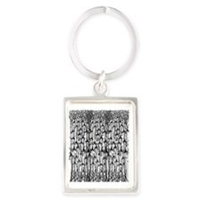 Neurons Portrait Keychain