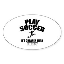soccre cheaper than therapy Decal