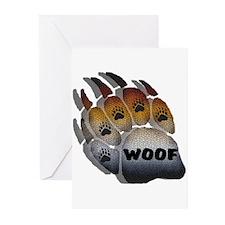 BEAR PRIDE PAW/MOSAIC/SHADOW Greeting Cards (Packa