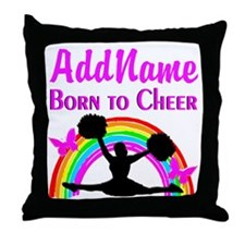 CHEERING CHAMPION Throw Pillow