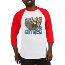 Save Sea Otters Baseball Jersey