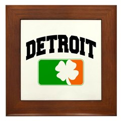Detroit Shamrock Framed Tile