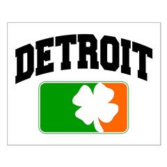 Detroit Shamrock Small Poster