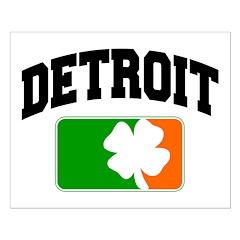 Detroit Shamrock Small Poster