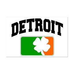 Detroit Shamrock Mini Poster Print