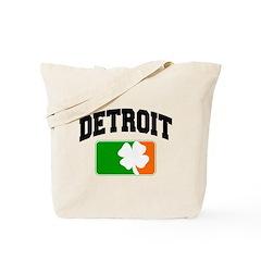 Detroit Shamrock Tote Bag
