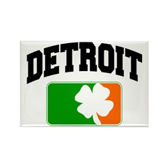 Detroit Shamrock Rectangle Magnet (10 pack)